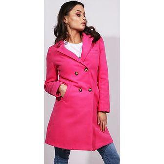 Płaszcz damski Dstreet różowy casual bez wzorów