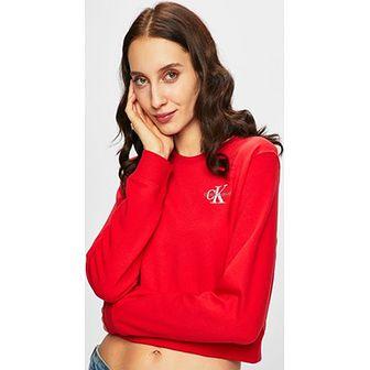 Bluza damska Calvin Klein młodzieżowa krótka z poliestru