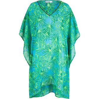 Sukienka BPC Selection oversize w abstrakcyjnym wzorze na plażę z długim rękawem