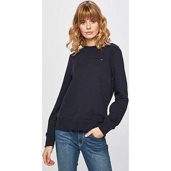 Bluza damska Tommy Hilfiger bawełniana bez wzorów krótka