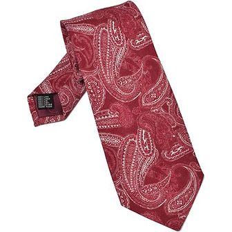 Czerwony krawat Van Thorn w abstrakcyjnym wzorze