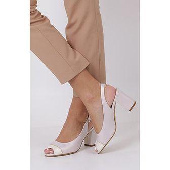 Sandały damskie Sergio Leone na wysokim obcasie na bez wzorów z klamrą