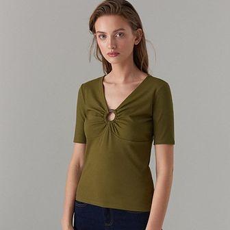 Mohito bluzka damska zielona bez wzorów
