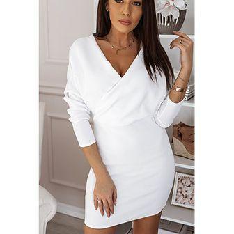 Biała sukienka Rose Boutique z długimi rękawami