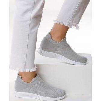 Buty sportowe damskie Born2be bez wzorów płaskie bez zapięcia