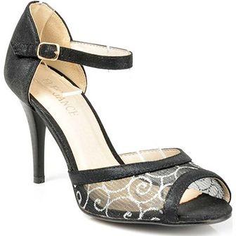 Sandały damskie Elegance na szpilce czarne na wysokim obcasie na lato
