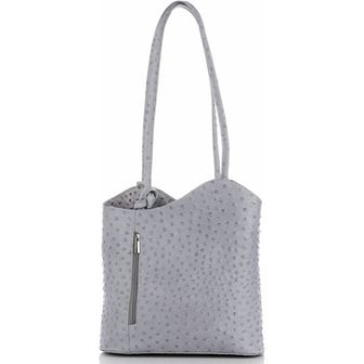 Shopper bag Genuine Leather duża na ramię matowa