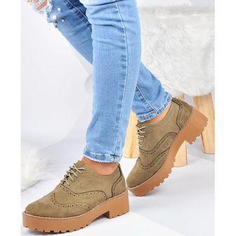 Półbuty damskie Kayla Shoes zielony