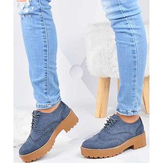 Półbuty damskie Kayla Shoes granatowy