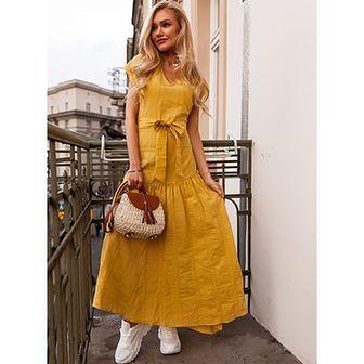Sukienka Selfieroom bez rękawów maxi bawełniana na spacer