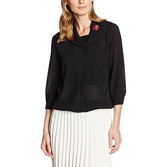 Fornarina bluzka damska czarna bez wzorów