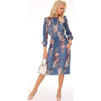 Sukienka Merribel z okrągłym dekoltem midi