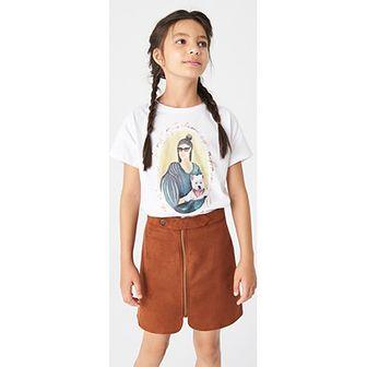 Bluzka dziewczęca Reserved z krótkimi rękawami z napisami