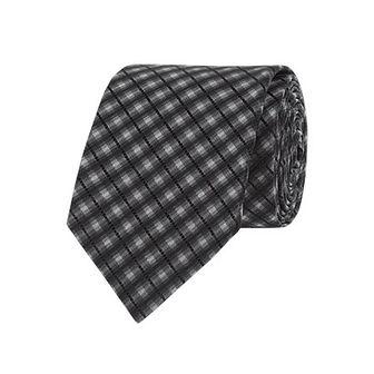 Krawat czarny Olymp w kratkę