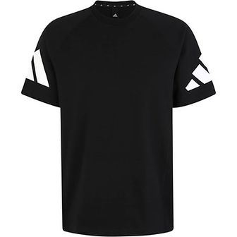 Adidas Performance koszulka sportowa czarna z nadrukami