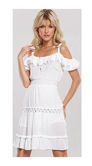 Sukienka Renee na urodziny mini biała