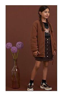 Kurtka dziewczęca Reserved brązowa bez wzorów bez