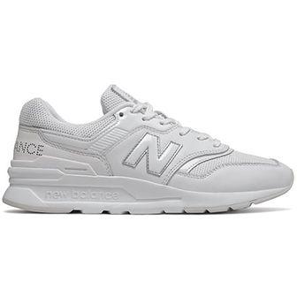 Buty sportowe damskie białe New Balance casualowe młodzieżowe z tworzywa sztucznego sznurowane płaskie