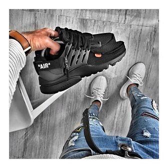 Buty sportowe męskie sznurowane czarne