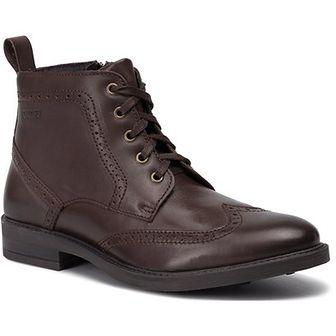 Buty zimowe męskie brązowe Quazi sznurowane na zimę