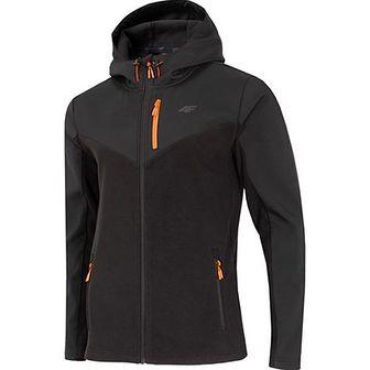Bluza sportowa 4F czarna bez wzorów