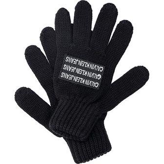 Rękawiczki dziecięce granatowe Calvin Klein