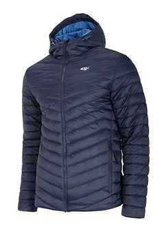 Niebieska kurtka sportowa 4F gładka