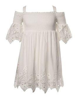 Biała sukienka dziewczęca *mayoral