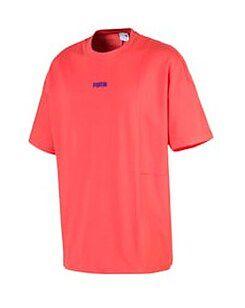 Koszulka sportowa Puma czerwona bez wzorów bawełniana
