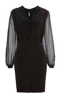 Bonprix sukienka gładka na sylwestra mini ołówkowa elegancka