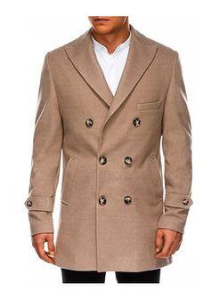 Płaszcz męski Ombre brązowy