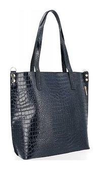 Shopper bag Vittoria Gotti z tłoczeniem bez dodatków