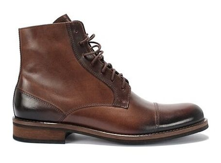 Buty zimowe męskie Domeno skórzane brązowe eleganckie