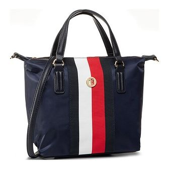 Shopper bag Tommy Hilfiger granatowy