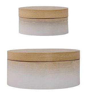 Zestaw pudełek Cotton (2/Set) białe