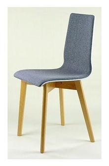 LUKA SOFT W krzesło drewniane biało-szare, bukowa rama