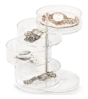 Pudełko, pojemnik na kosmetyki, biżuterię, drobiazgi - 4 poziomy, ZELLER