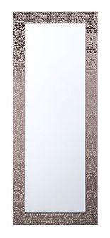 Lustro ścienne wiszące brązowe dekoracyjne 50 x 130 cm