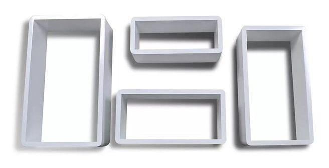Zestaw półek ściennych Quant 2X - biały połysk