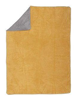 Koc Cotton Cloud 150x200cm  Mustard&Grey, 150 x 200 cm