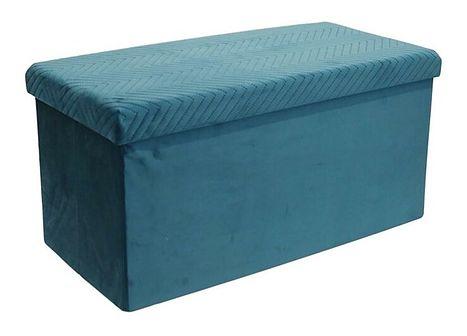 Otwierana pufa Zanno 2X - niebieska