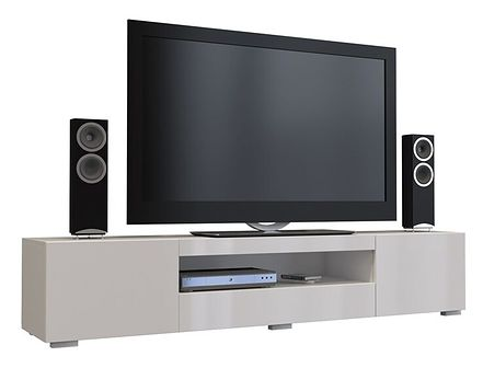 Biała szafka RTV - Uzet