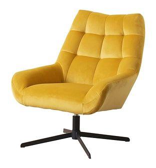 SELSEY Fotel obrotowy Sherley żółty