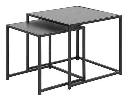 SELSEY Zestaw dwóch stolików kawowych Krapina 50x50 cm i 40x40 cm szare