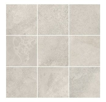 Gres szkliwiony mozaika QUENOS white duża mat 29,8x29,8 gat. I