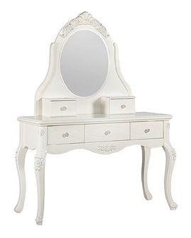 Toaletka z lustrem La Perle 902, ecru