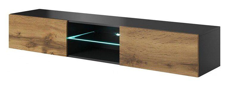 Wisząca szafka RTV z oświetleniem Vomes 11X - dąb wotan