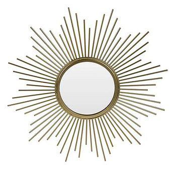 Okrągłe lustro glamour Starro - złote