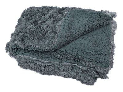 Narzuta koc na łóżko WŁOCHACZ 200 x 220 cm antracyt