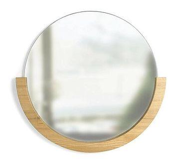 Okrągłe lustro Niceo - drewniane